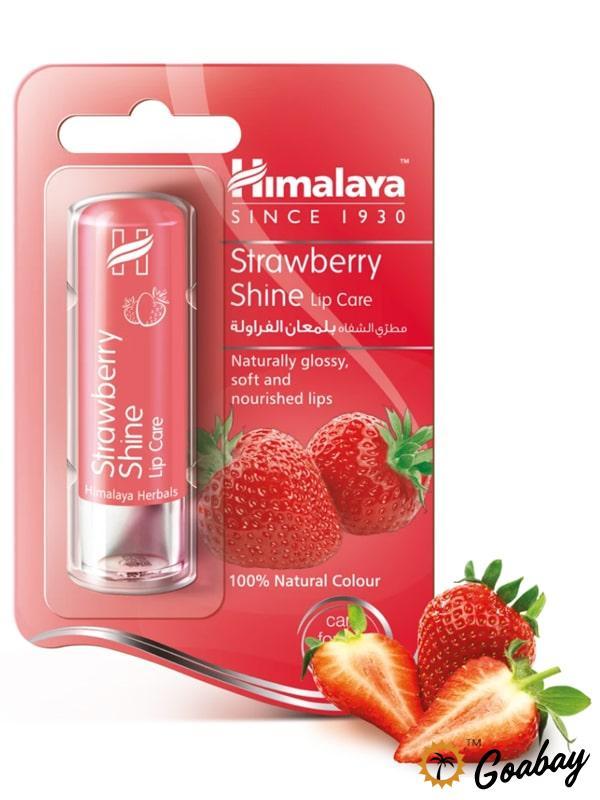 Himalaya, Strawberry, Shine Lip, Balm, для губ, бальзам, индия, india